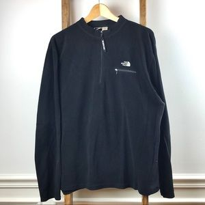 Black North Face 1/4 Zip Pullover Fleece. Size XXL